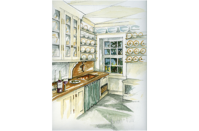 Kitchen Design Drawings and Interior Design Photos by Joan Picone